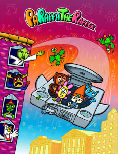 Parappa flying with friends