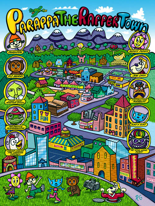 Parappa Town Poster