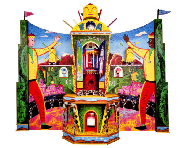"""""""Ark of Triumph"""" - Large painted wooden construction"""