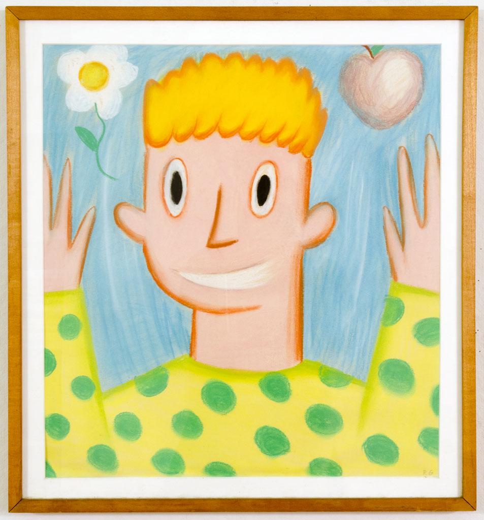 """Happy Boy"" Pastel on paper, 1981 18 x 17"