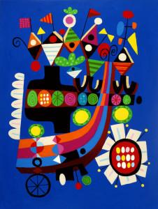 """Juggle"" print by Rodney Alan Greenblat"