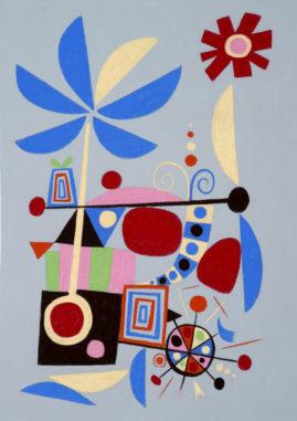 """Wind Pup"" print by Rodney Alan Greenblat"