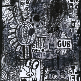 Bantom GUB - 2014 Marker on paper - Rodney Alan Greenblat