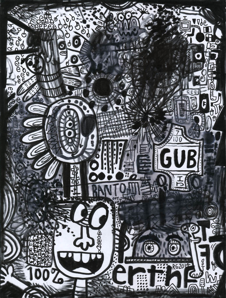 Bantom GUB - 2014 Marker on paper - Rodney Alan Greenblat