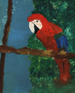 Summer Parrot - 1976? oil on canvas-paper 8 x 10 inches