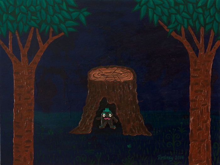 Alone in the Dark and Ok - Acrylic on Canvas - 2014