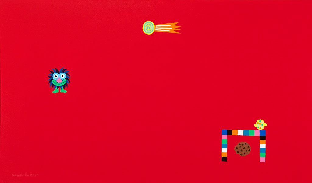 Comet Caper - Acrylic on canvas - 32 x 54 inches